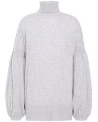 Zimmermann Mélange Merino Wool And Cashmere-blend Turtleneck Jumper Light Grey