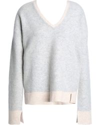 Duffy - Two-tone Wool And Cashmere-blend Sweater - Lyst