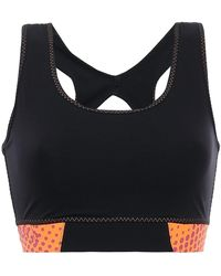 Sàpopa Sàpopa Vele Cutout Stretch Sports Bra - Black