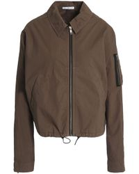 James Perse - Stretch Cotton-shell Jacket Army Green - Lyst