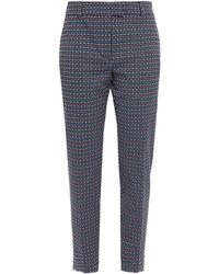 Paul & Joe Cotton-blend Jacquard Slim-leg Pants - Blue