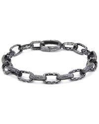 Marco Dal Maso - Oxidised Silver Warrior Bracelet - Lyst