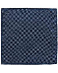 Eton of Sweden - Navy Silk Fine Polka Dot Pocket Square - Lyst