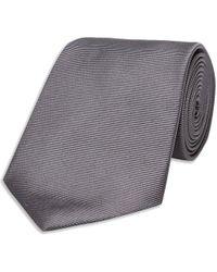 Turnbull & Asser - Dark Grey Twill Silk Tie - Lyst