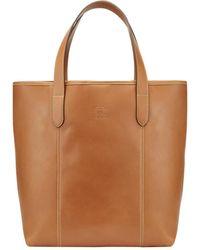 Tusting Tan Leather Chelsea Simple Eco-tote Bag - Brown