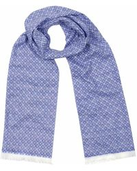 Anderson & Sheppard - Sky Blue Tubular Cotton Tile Scarf - Lyst