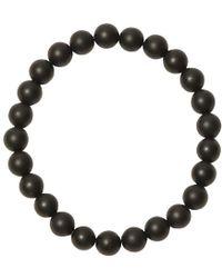 Jan Leslie - Black Matte Onyx Bead Elasticated Bracelet - Lyst