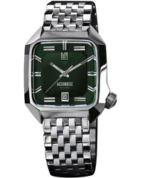 Steel Watch Am2 With Automatic Band Green BedxoC