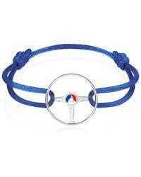 The Mechanists - Sterling Silver On Blue Cord 24h Le Mans Steering Wheel Bracelet - Lyst
