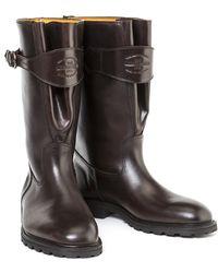 Ludwig Reiter - Dark Brown Traktorstiefel Pull-up Leather Boots - Lyst