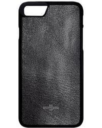 Huitcinq 1988 - Black Goatskin Leather Iphone 7 Case - Lyst