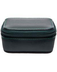 Ettinger Green Dressed Calf Leather Spectrum Small Travel Zip Box