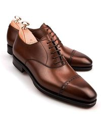 Carmina Brown Vegano Leather Brogue Oxfords