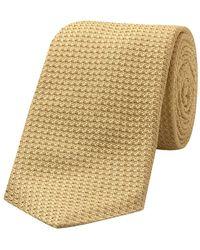 Budd Shirtmakers Golden Yellow Silk Grenadine Tie