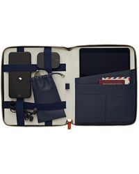 Stow Sapphire Blue Leather Universal Tech Case