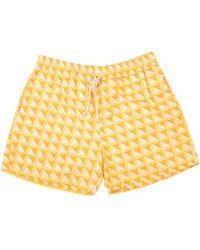 Ripa & Ripa Yellow Vele-print Swim Shorts