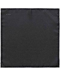 Eton of Sweden - Black Silk Fine Polka Dot Pocket Square - Lyst