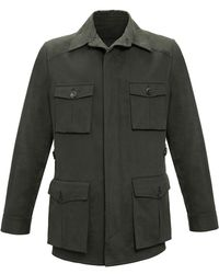Anderson & Sheppard - Dark Green Travel Jacket - Lyst