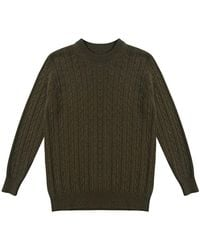 CONNOLLY - Loden Cashmere Cable Knit Jumper - Lyst