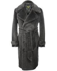 Motoluxe - Charcoal Teddy Bear Coat - Lyst