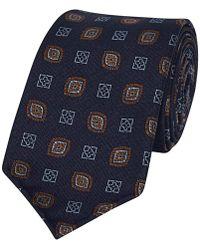 Fumagalli 1891 - Navy Blue Silk Patterned Tie - Lyst