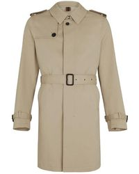 0c3a6c79b Beige Cotton Oxford Trench Coat - Natural
