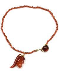 Rubinacci - Amber And Gold Agate Charm Bracelet - Lyst