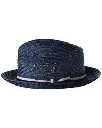 Muhlbauer Navy Braided Straw Graf Theo Hat - Blue