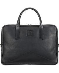 Tusting Black Leather Langford Briefcase