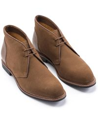 Ludwig Reiter - Cognac Brown Suede And Horseback Leather Chukka Boots - Lyst