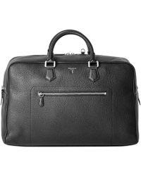 Serapian - Black Cachemire Calf Leather Weekender Bag - Lyst