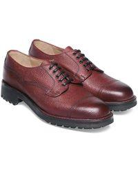 Cheaney Burnished Burgundy Grain Cairngorm Shoes - Multicolour