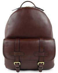 f62e2a2898a2 Frank Clegg - Chocolate Hampton Zipper Leather Backpack - Lyst