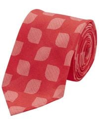 Salvatore Piccolo - Red Geometric Patterned Silk Tie - Lyst