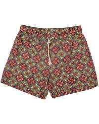 Ripa & Ripa Green Pantelleria-print Swim Shorts
