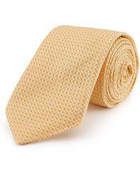 New & Lingwood - Yellow Grenadine Weave Silk Tie - Lyst