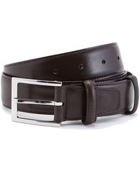 Carmina Brown Box Calf Leather Belt