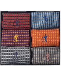 London Sock Company Shaken & Stirred Sock Gift Box Of 6 - Blue