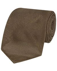 Salvatore Piccolo Olive Green Silk Tie