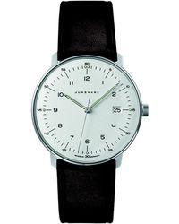 Junghans - Dark Brown Leather Max Bill Quartz Watch - Lyst