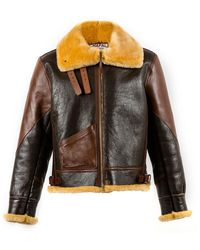 Chapal Dark And Light Brown B3 Shearling Jacket