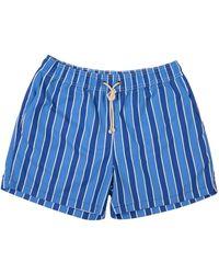 Ripa & Ripa Blue Monterosso-print Swim Shorts