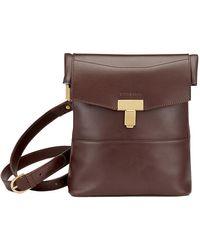 Tusting Chocolate Leather Ripon Reporter Bag - Brown