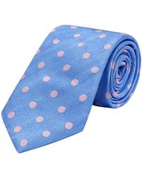 New & Lingwood - Blue And Pink Spotted Silk Tie - Lyst