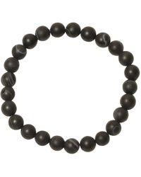 Jan Leslie - Black Matte Agate Bead Elasticated Bracelet - Lyst