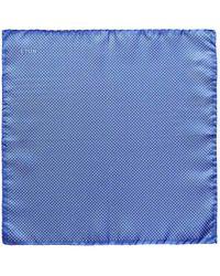 Eton of Sweden - Light Blue Silk Fine Polka Dot Pocket Square - Lyst