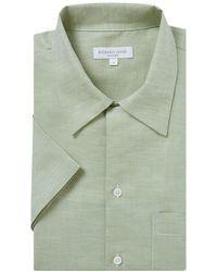 Richard James - Pistachio Green Linen Shirt - Lyst