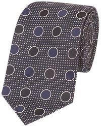Drake's - Blue Silk Circle Tie - Lyst