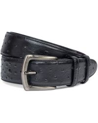Elliot Rhodes - Black Mock Ostrich Leather Belt - Lyst