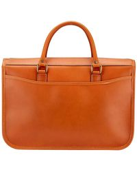 Tusting Tan Bridle Leather Small Marston Briefcase - Brown